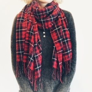 ❤️Plaid Holiday Scarf, Red